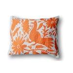 Image of Orange Tenango Pillows - A Pair