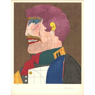 1969 Richard Lindner Profile Lithograph
