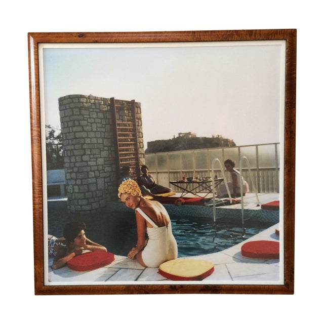 Framed Photograph - Slim Aarons Poolside - Image 1 of 3