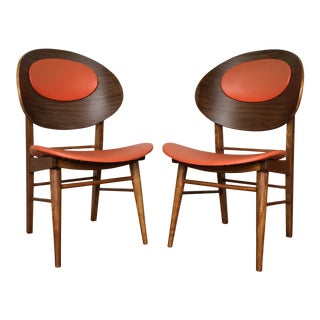 Vintage Mid Century Danish Style Dining Chairs- A Pair.