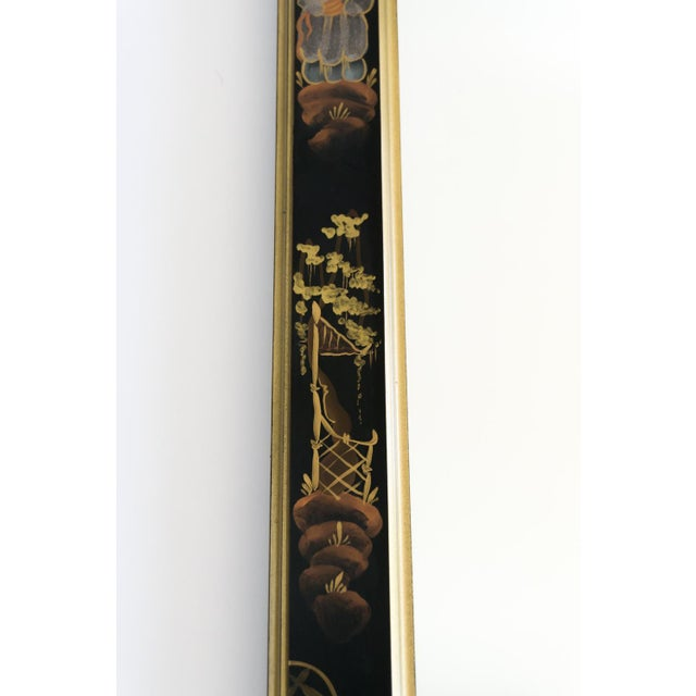 Black Lacquered Chinoiserie Chippendale Mirror - Image 5 of 8
