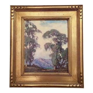 """Las Alturas Road, Santa Barbara, California"" Painting by William Louis Otte, 1919"