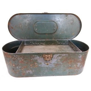 Vintage Metal Box With Wonderful Old Paint