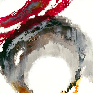"Liz Jardine Painting ""Liquid Crimson"""