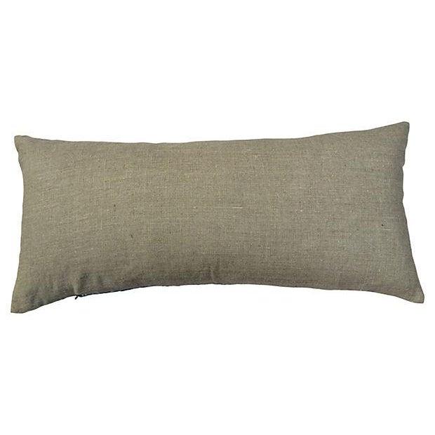 Antique Indigo Crane Batik Body Pillow - Image 6 of 6
