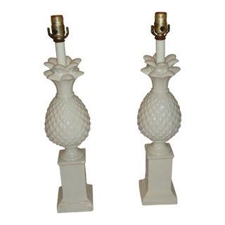 Vintage Hollywood Regency Pineapple Lamps - A Pair