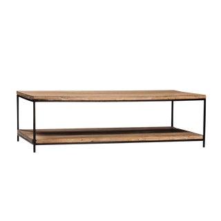 Reclaimed Elm & Iron Coffee Table
