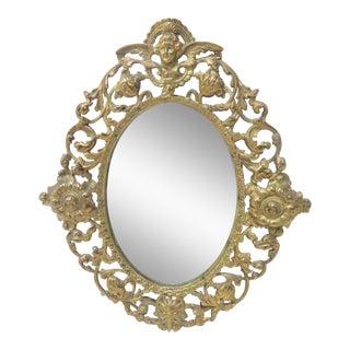 Victorian Style Brass Wall Mirror