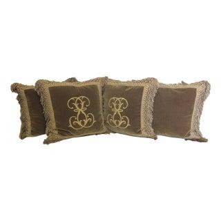 Ebanista Custom Mohair Pillows-Set of 4