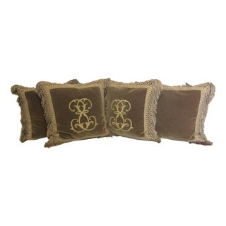 Ebanista Custom Mohair Pillows-Set of 4