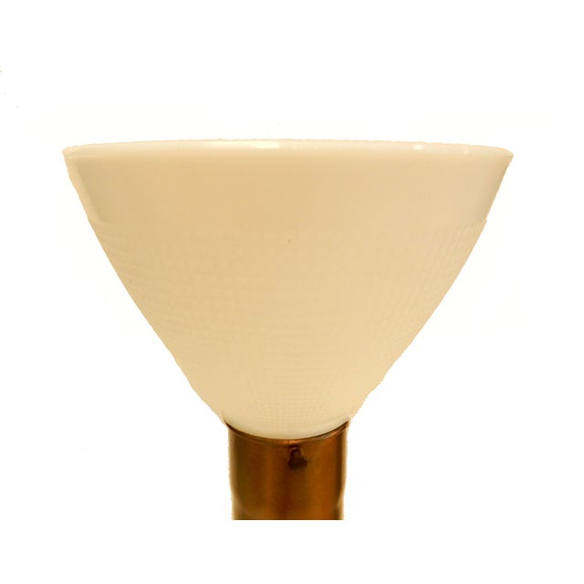Sculptural Ceramic Table Lamp With Shade | Chairish
