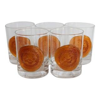 Amber Sun Lowball Glasses - Set of 5