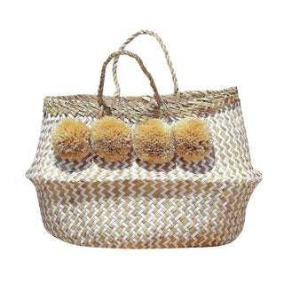"""Borrego X Borneo No. 1"" Pompom Seagrass Belly Basket"
