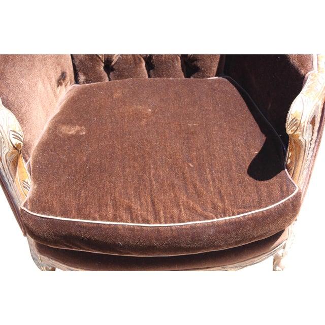 Vintage Mohair Velvet Chair - Image 5 of 10