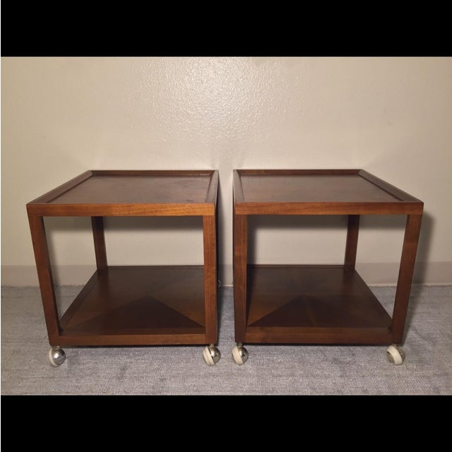 Image of Mid Century Drexel Apart-Mates Accent Table - Pair
