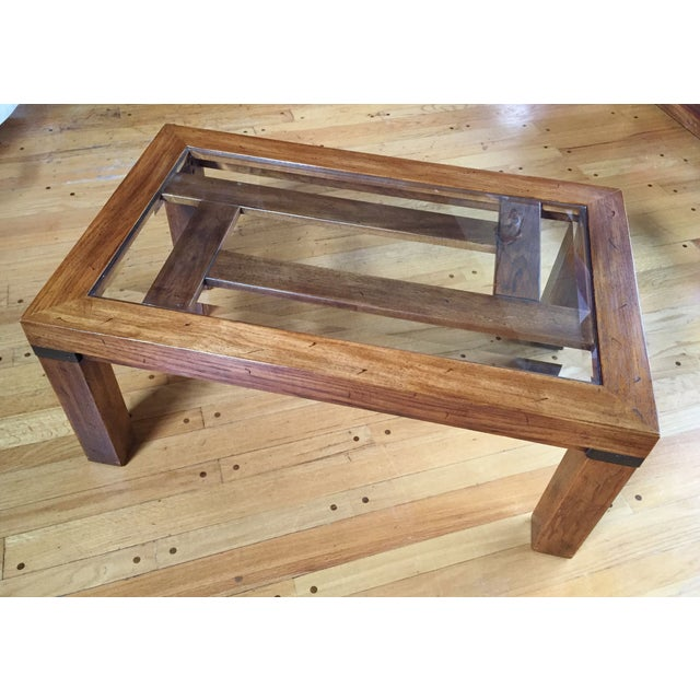 Drexel Heritage Coffee Table With Beveled Glass - Image 6 of 7