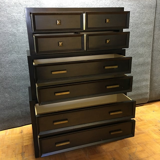 Brown-Black Three-Tier Dresser - Image 4 of 6