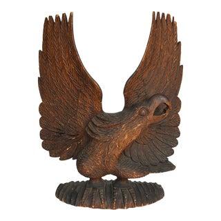 1880s Vintage Folk Carving of Eagle