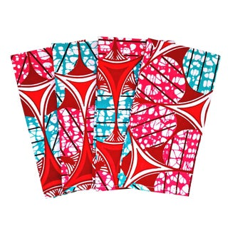 African Print Fabric Dinner Napkins - Set of 6
