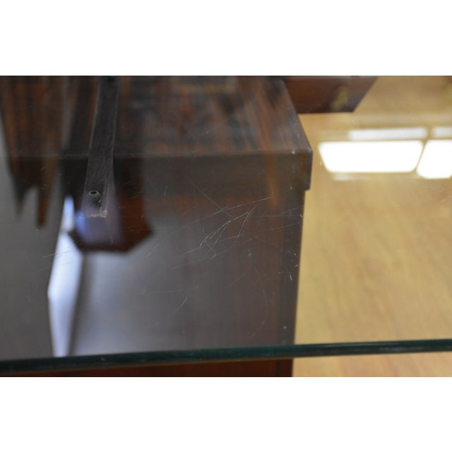 Mid-Century Rosewood & Glass Danish Coffee Table - Image 6 of 10