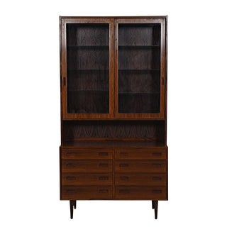 Danish Modern Bookcase / Display Cabinet in Rosewood