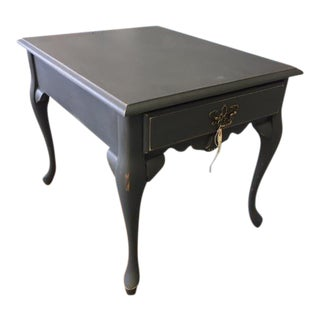 Traditional Queen Anne Style Hand Painted Side Table
