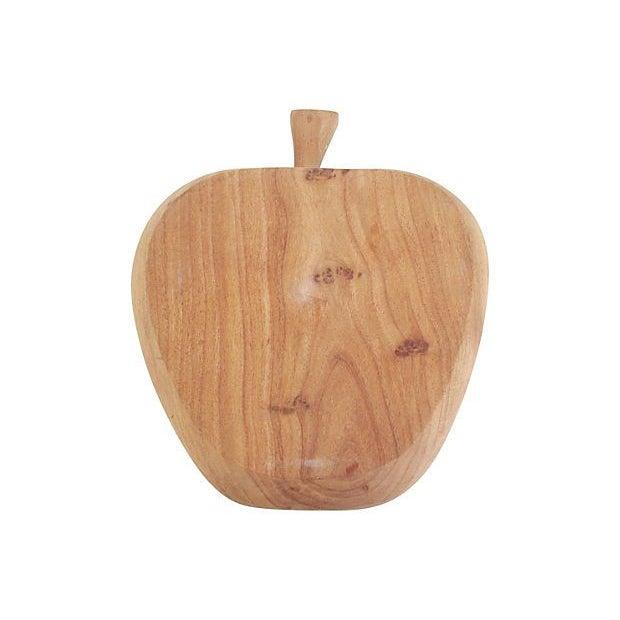 Image of Vintage Hand-Carved Apple Bowl