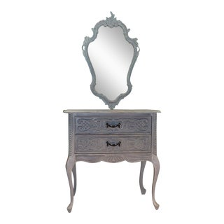 French Sideboard & Wall Mirror
