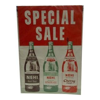 """Vintage Advertising Poster - """"Nehi Soda"""", 1960"""