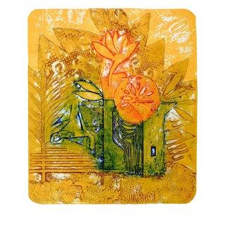 "Anita Klebanoff ""Into the Sun"" Abstract Etching"