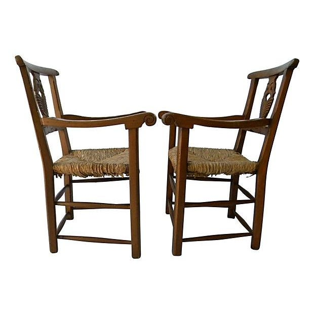 Carved-Back Swan Chair - Pair - Image 2 of 6