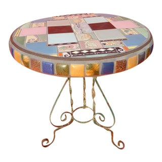 Round Claycraft Tile Table