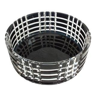 Ingegerd Raman for Orrefors Crystal Tones Black Round Bowl