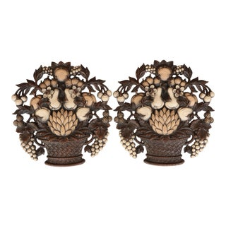 Syrocco Fruit Basket Wall Hangings - A Pair