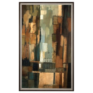 "Darwin Musselman ""Abstract City"" Oil Painting"