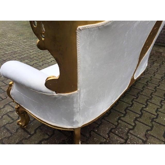 Image of Ivory Rococo-Style Sofa