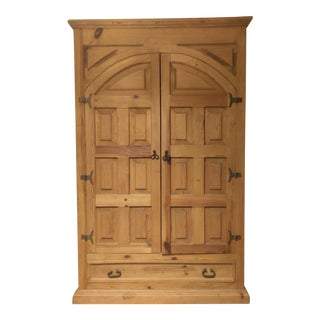 Rustic Pine Wood Cabinet