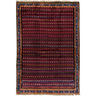 "Apadana - Vintage Persian Hamadan Rug, 5'1"" x 7'3"""