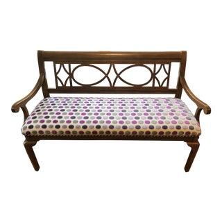 Settee Bench Solid Cherry Wood