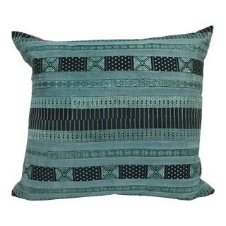 Vintage Hmong Hill Tribe Silk Textile Lumbar Pillow
