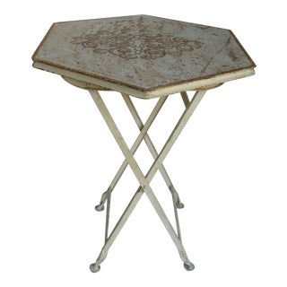 Painted Metal Folding Table