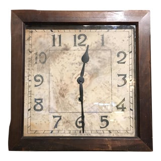 Antique New Haven Clock Co. Wall Clock