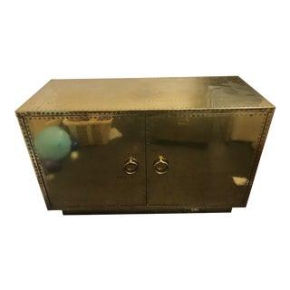 Antique Brass Campaign Cabinet