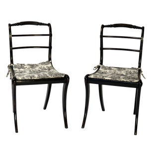 Ebonized Regency Side Chairs