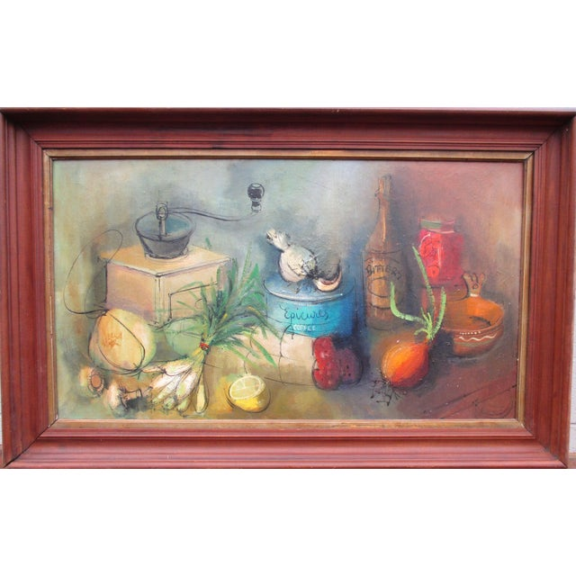 Modernist Abstract Ardoth Terrill Hughes Still Life Painting - Image 3 of 9