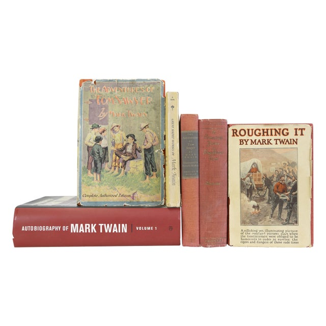 Mark Twain Books, Antique to Modern - Set of 6 - Image 1 of 11