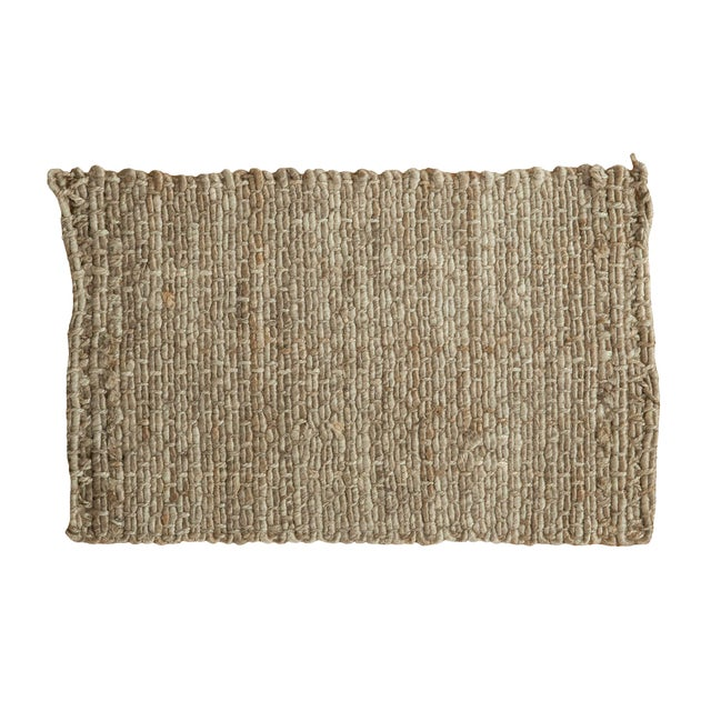 """Hand Braided Grey Entrance Mat - 2'1"""" X 3'3"""" - Image 1 of 2"""