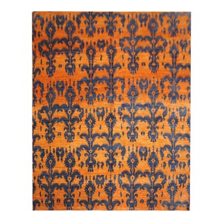 "Hand Knotted Ikat Rug by Aara Rugs Inc. 9'3"" X 12'4"""