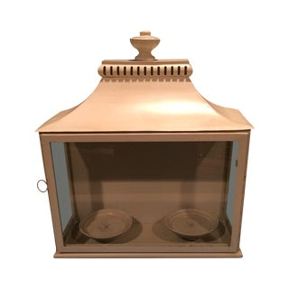 Contemporary Cream Tole Lantern