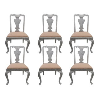 Six Painted Dining Chairs